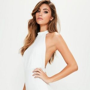 3e2a98c0457 ... Missguided white halterneck bodycon dress